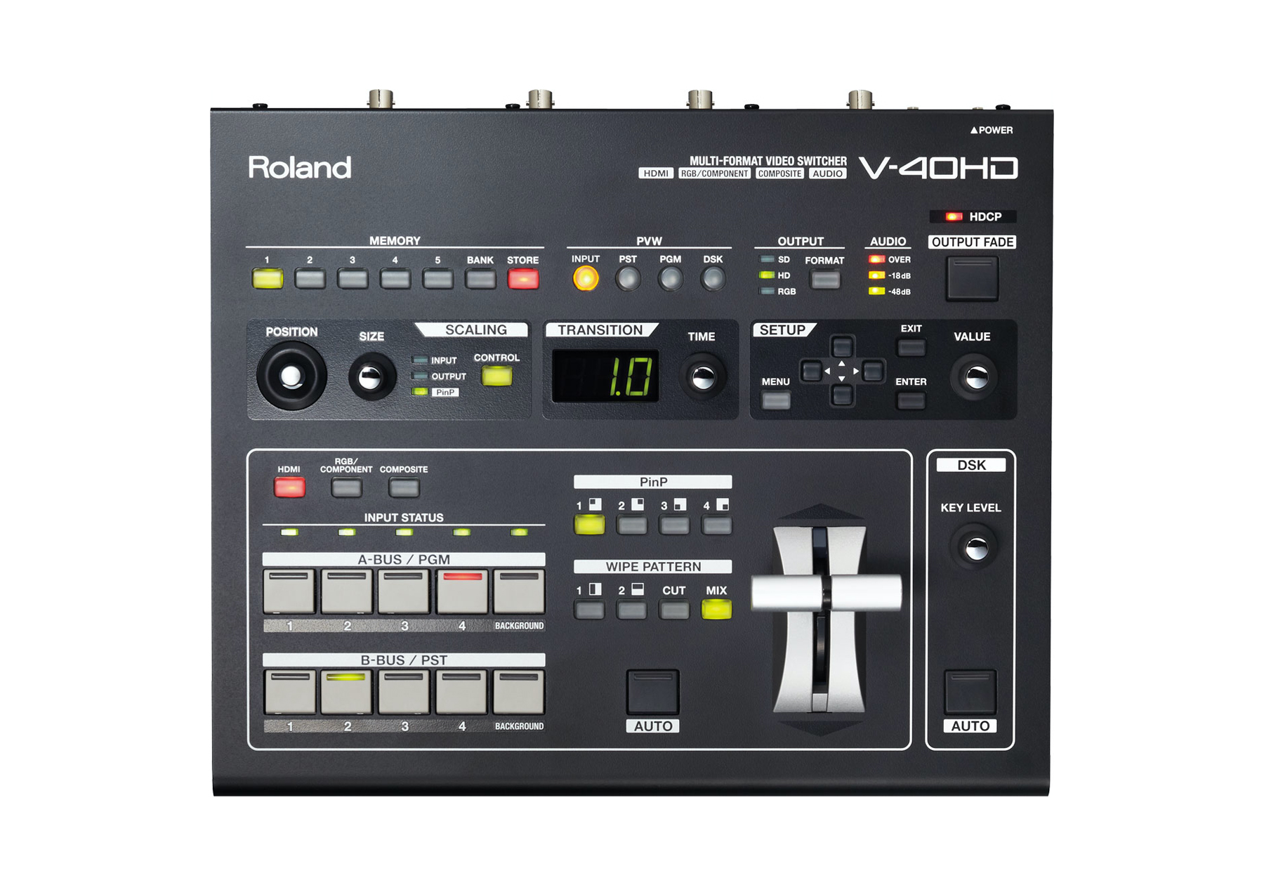 Hire AV equipment, video & playback equipment, BluRay player, DVD, Roland video mixers & video switchers in Cardiff, Swansea, Newport, Carmarthenshire, Pembrokeshire, South & West Wales